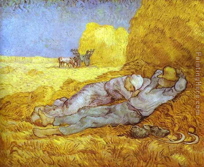 Noon Rest After Millet painting - Vincent van Gogh Noon Rest After Millet art painting