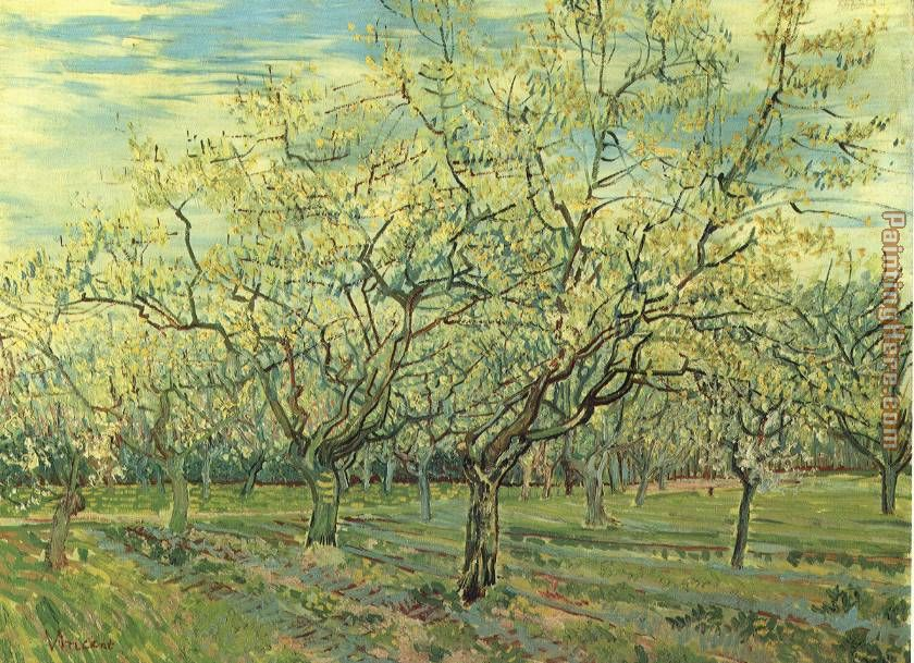 Vincent van Gogh Orchard with Blossoming Plum Trees Painting ...