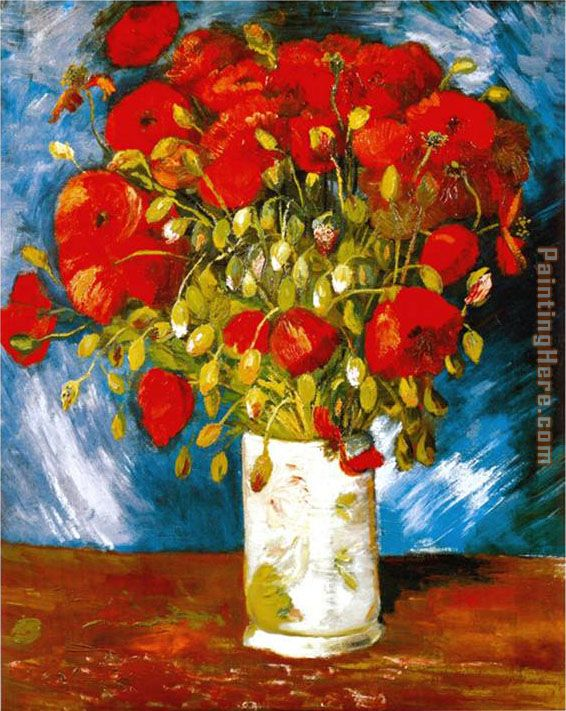 Poppies 1886 painting - Vincent van Gogh Poppies 1886 art painting
