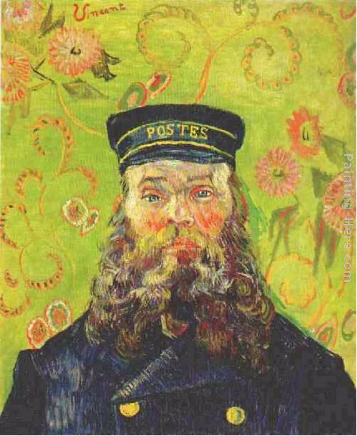 Portrait of the Postman Joseph Roulin painting - Vincent van Gogh Portrait of the Postman Joseph Roulin art painting