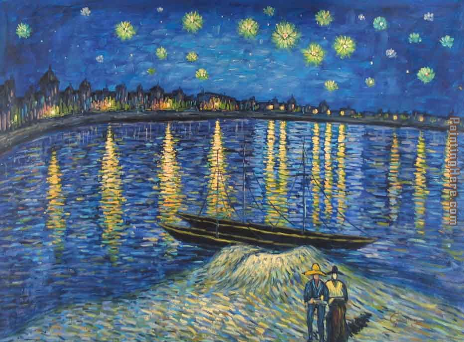 Vincent van Gogh Starry Night Over the Rhone 2 Art Painting
