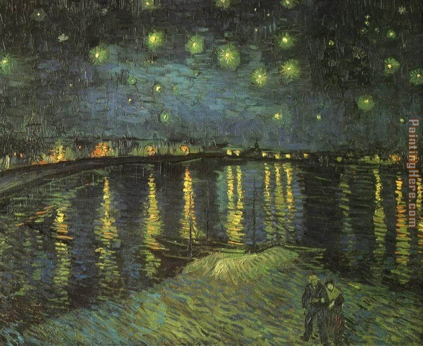 Starry Night over the Rhone I painting - Vincent van Gogh Starry Night over the Rhone I art painting