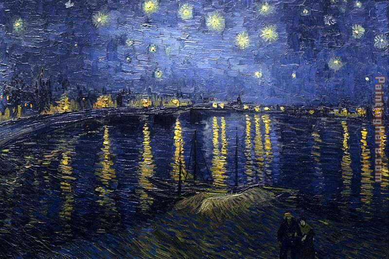 van gogh starry night over the rhone painting 70 off. Black Bedroom Furniture Sets. Home Design Ideas