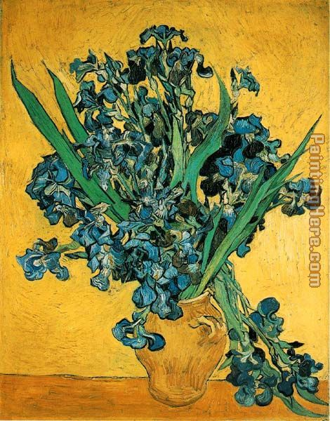 Still Life with Iris painting - Vincent van Gogh Still Life with Iris art painting