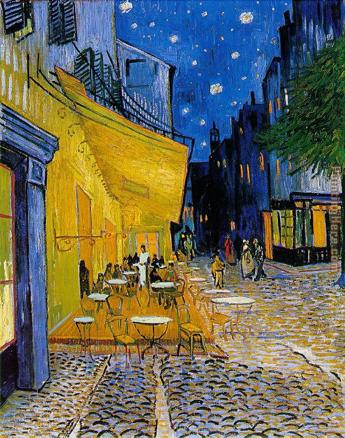 The Cafe Terrace painting - Vincent van Gogh The Cafe Terrace art painting