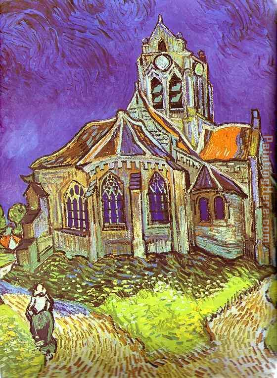 Vincent van Gogh The Church in Auvers Art Painting