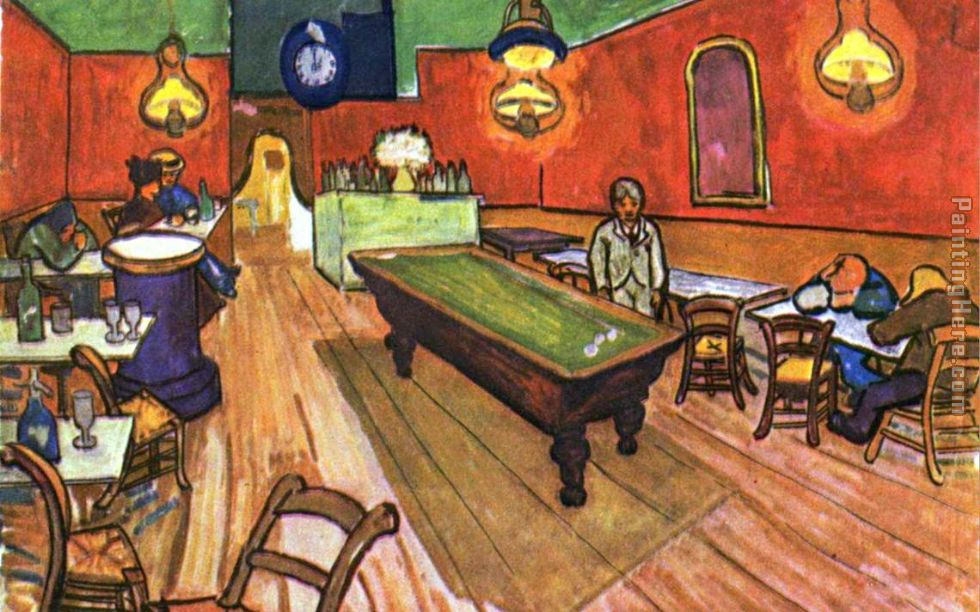 The Night Cafe in the Place Lamartine in Arles painting - Vincent van Gogh The Night Cafe in the Place Lamartine in Arles art painting