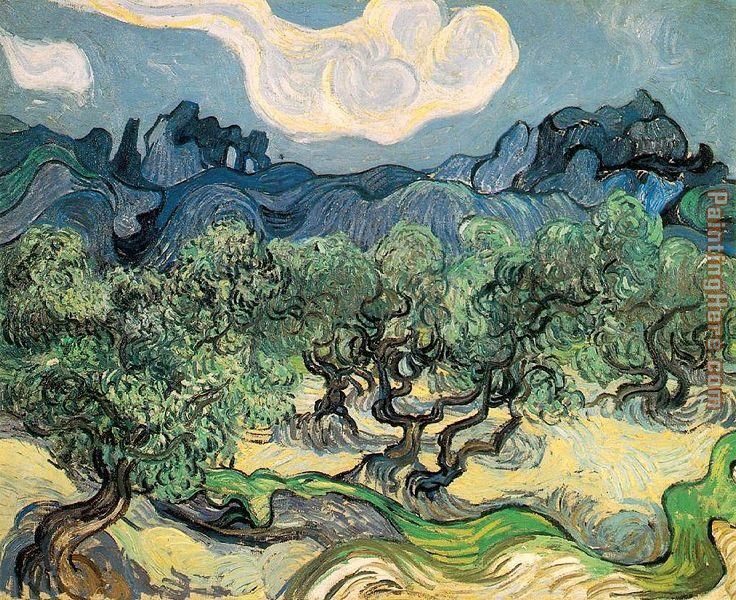 The Olive Trees painting - Vincent van Gogh The Olive Trees art painting