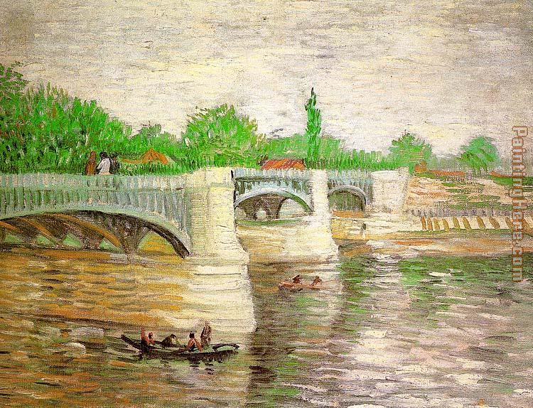 The Seine with the Pont de la Grand Jatte painting - Vincent van Gogh The Seine with the Pont de la Grand Jatte art painting