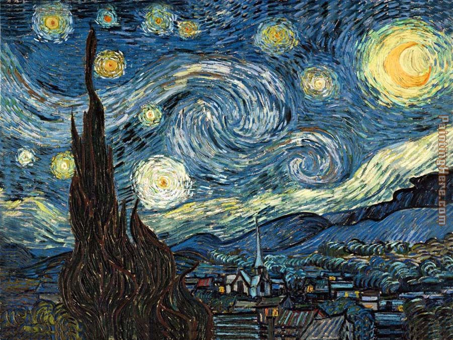 The Starry Night 2 painting - Vincent van Gogh The Starry Night 2 art painting