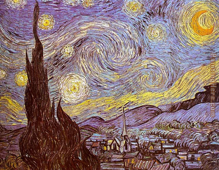 Vincent van Gogh The Starry Night Saint-Remy Art Painting