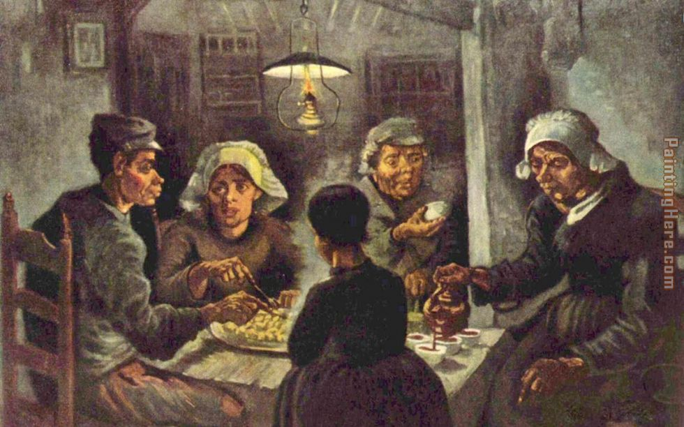 Vincent van Gogh The potato eaters Art Painting