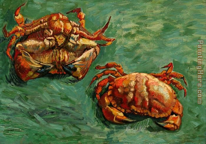 Two Crabs painting - Vincent van Gogh Two Crabs art painting