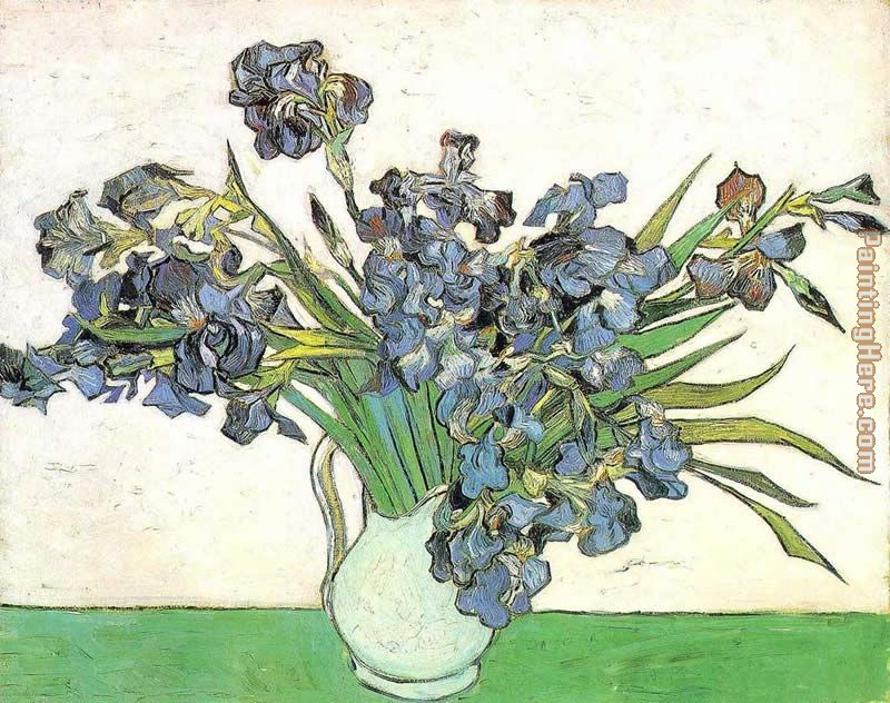 Vase with Irises painting - Vincent van Gogh Vase with Irises art painting