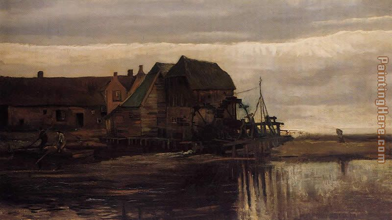 Watermill at Gennep painting - Vincent van Gogh Watermill at Gennep art painting