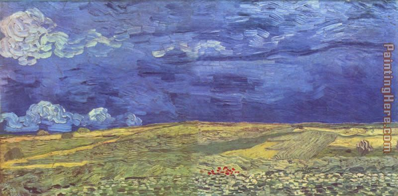 Wheat Field under Clouded Sky painting - Vincent van Gogh Wheat Field under Clouded Sky art painting