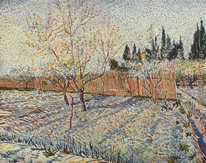 field on winter painting - Vincent van Gogh field on winter art painting