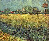 View of Arles with Irises I