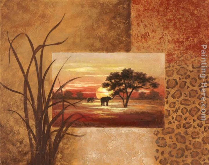 Vivian Flasch African Elephant Art Painting