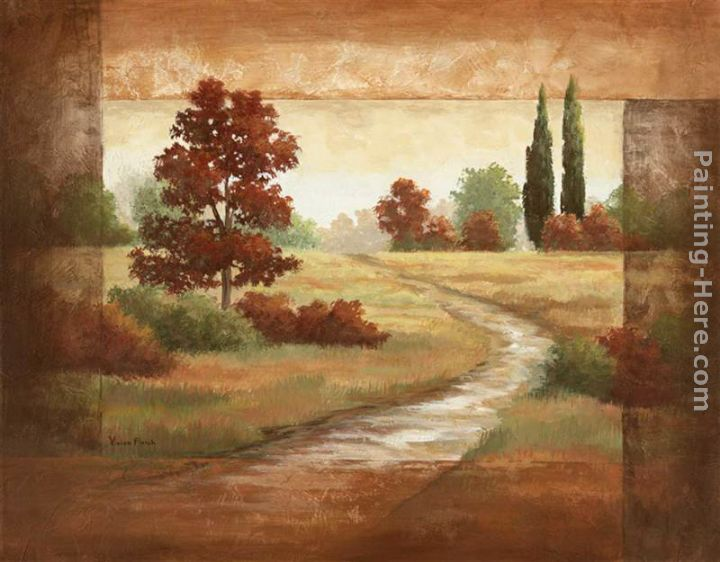 Autumn Scroll II painting - Vivian Flasch Autumn Scroll II art painting
