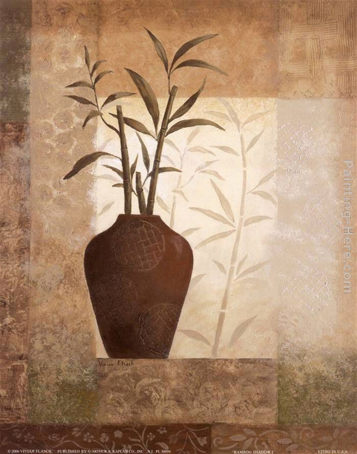 Bamboo Shadow I painting - Vivian Flasch Bamboo Shadow I art painting