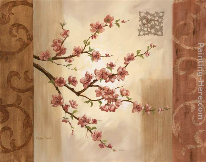 Blossom Branch I painting - Vivian Flasch Blossom Branch I art painting