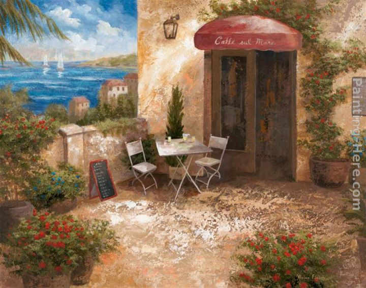 Caffe sul Mare painting - Vivian Flasch Caffe sul Mare art painting