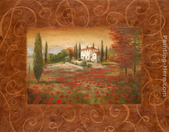 Fields of Tuscany II painting - Vivian Flasch Fields of Tuscany II art painting
