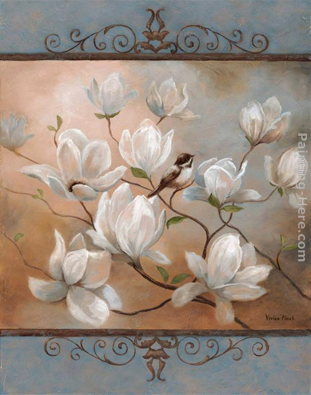Magnolia Splendor painting - Vivian Flasch Magnolia Splendor art painting