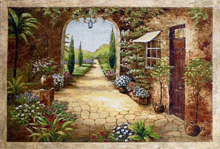 Secret Garden I painting - Vivian Flasch Secret Garden I art painting