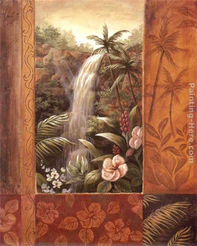 vivian flasch tropical waterfall ii painting anysize 50 off