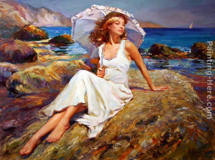 By the Seaside painting - Vladimir Volegov By the Seaside art painting