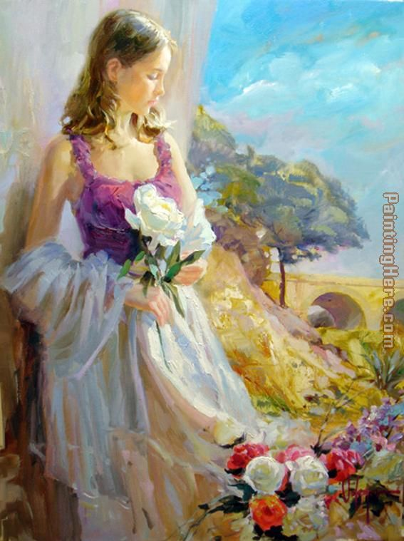 Thoughts of Springtime painting - Vladimir Volegov Thoughts of Springtime art painting