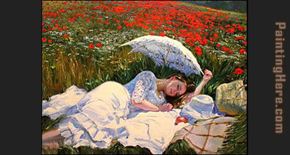 sweet dream painting - Vladimir Volegov sweet dream art painting