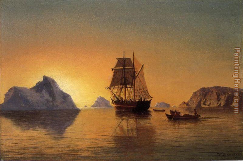 An Arctic Scene painting - William Bradford An Arctic Scene art painting