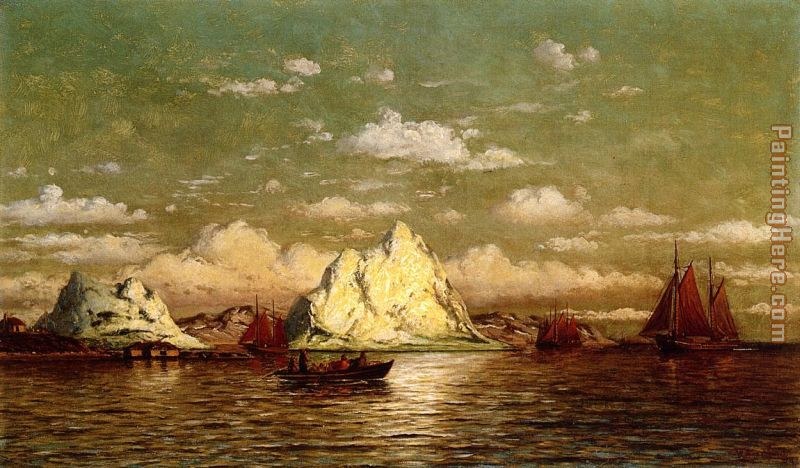 Arctic Harbor painting - William Bradford Arctic Harbor art painting