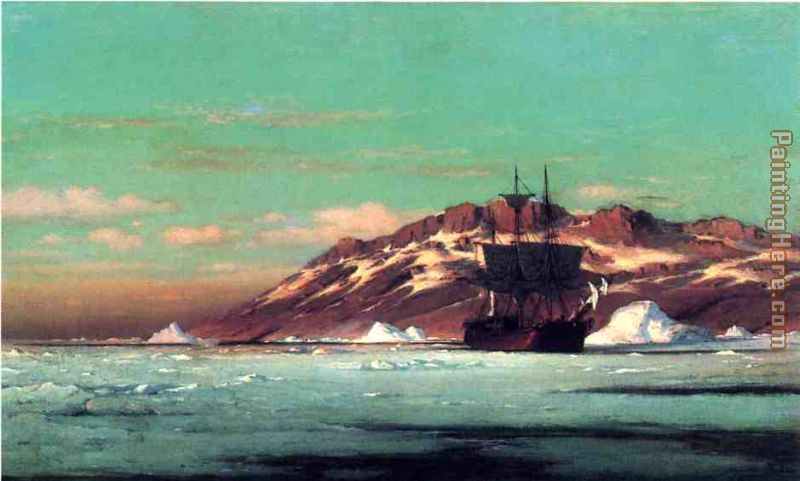 Arctic Scene painting - William Bradford Arctic Scene art painting