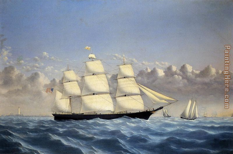 Clipper Ship 'Golden West' of Boston, Outward Bound painting - William Bradford Clipper Ship 'Golden West' of Boston, Outward Bound art painting