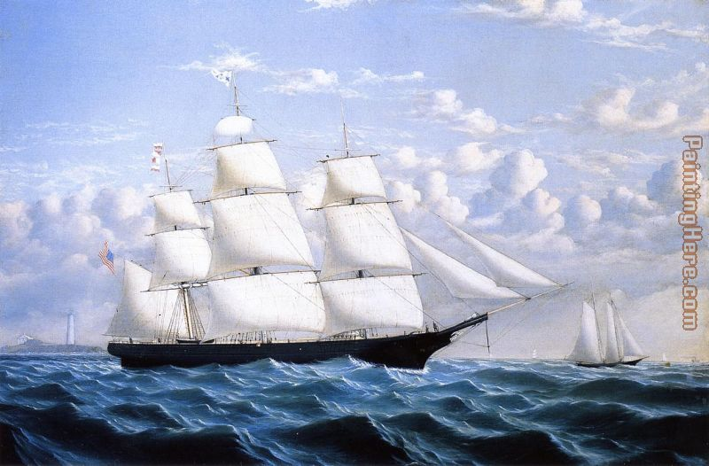 Clipper Ship 'Northern Light' of Boston painting - William Bradford Clipper Ship 'Northern Light' of Boston art painting