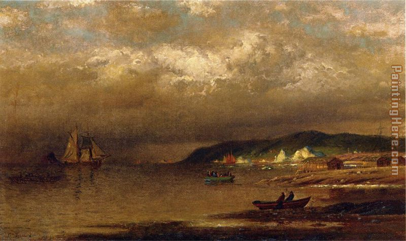 Coast of Newfoundland painting - William Bradford Coast of Newfoundland art painting