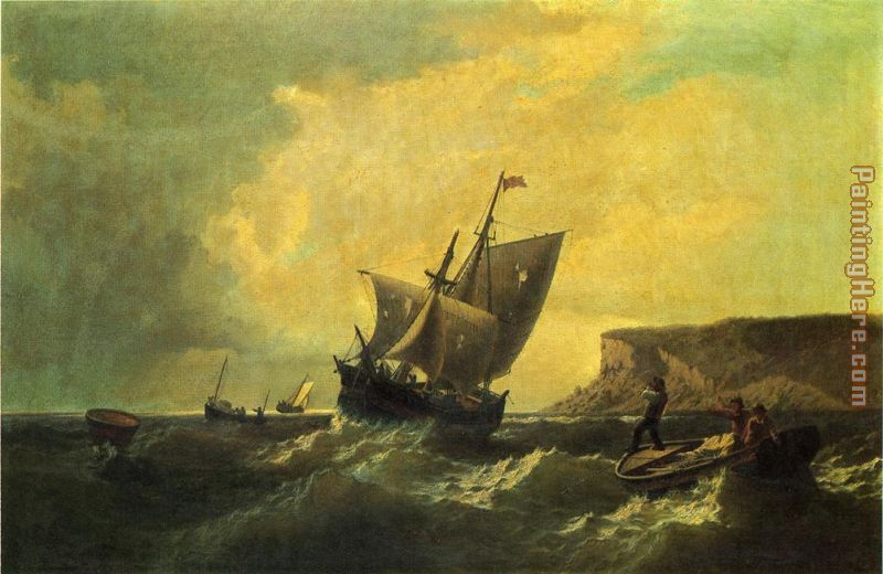 Fishermen in an Approaching Storm painting - William Bradford Fishermen in an Approaching Storm art painting