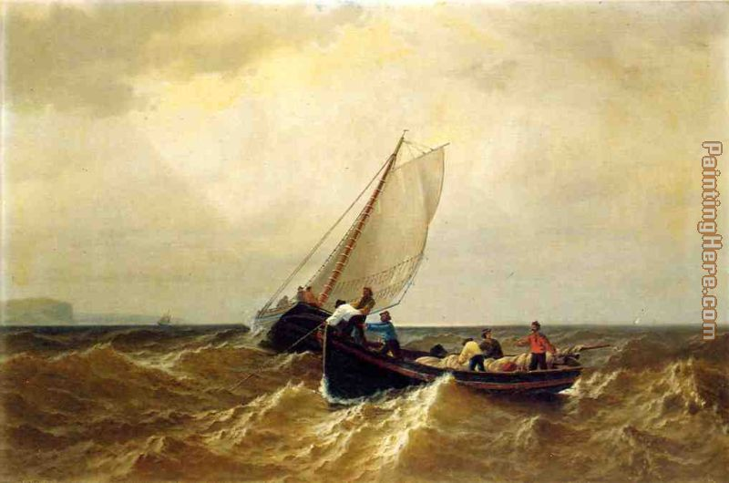 Fishing Boat in the Bay of Fundy painting - William Bradford Fishing Boat in the Bay of Fundy art painting