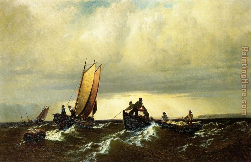 Fishing Boats on the Bay of Fundy i painting - William Bradford Fishing Boats on the Bay of Fundy i art painting