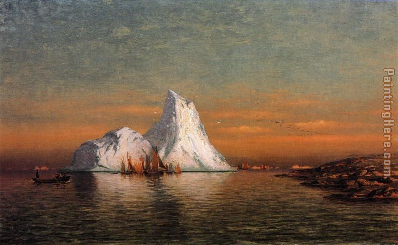 Fishing Fleet off Labrador i painting - William Bradford Fishing Fleet off Labrador i art painting