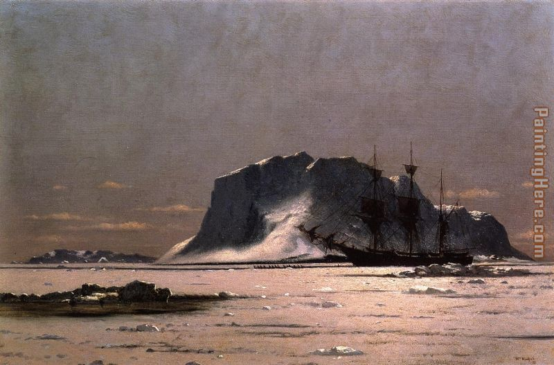 Freeing a Square Rigger painting - William Bradford Freeing a Square Rigger art painting