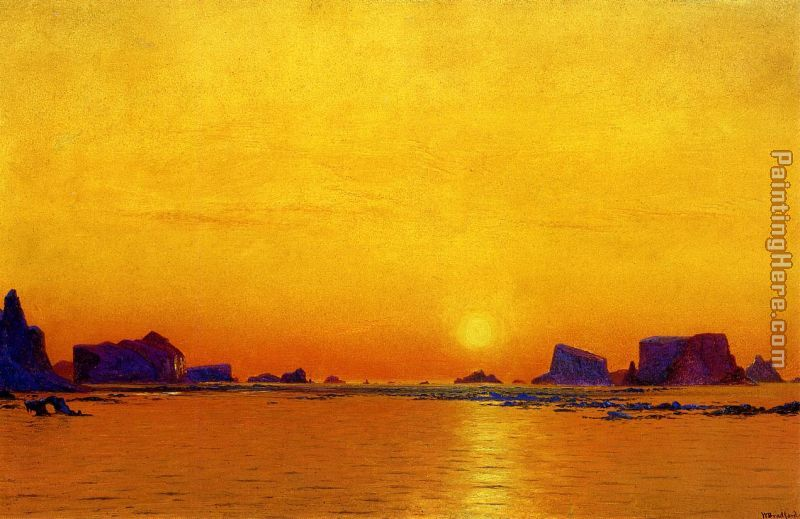 Ice Floes Under the Midnight Sun painting - William Bradford Ice Floes Under the Midnight Sun art painting
