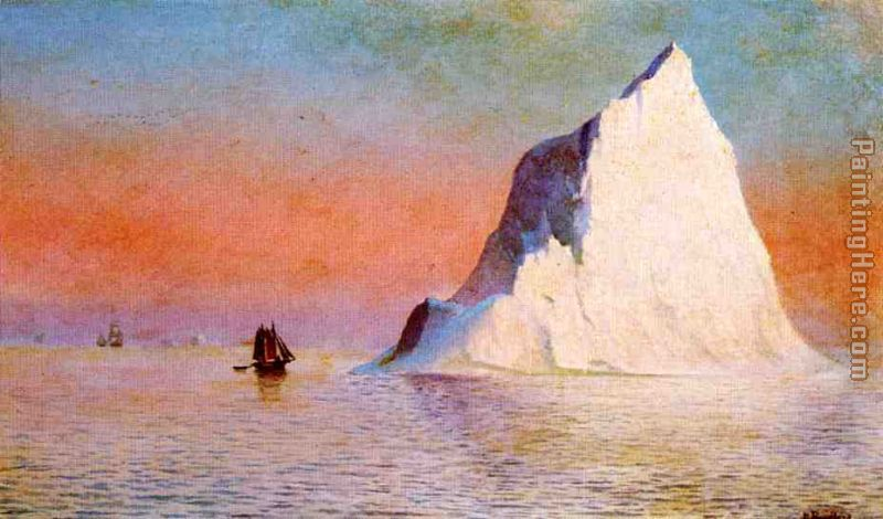 Icebergs painting - William Bradford Icebergs art painting