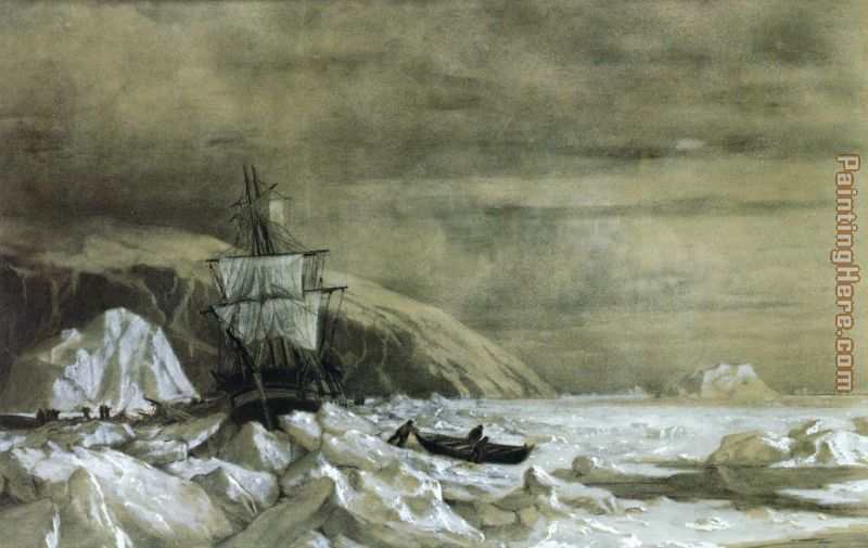 Locked In, Baffin Bay painting - William Bradford Locked In, Baffin Bay art painting