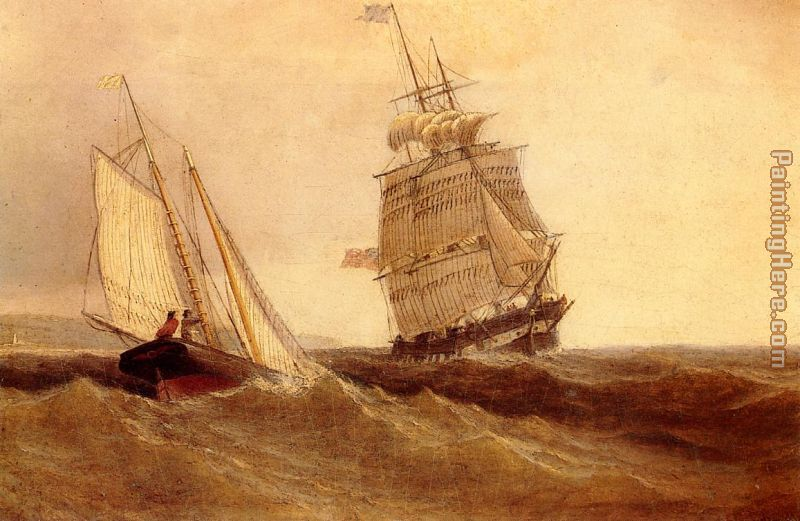 Passing Ships painting - William Bradford Passing Ships art painting