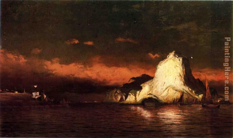 Perce Rock, Belle Isle Straits painting - William Bradford Perce Rock, Belle Isle Straits art painting